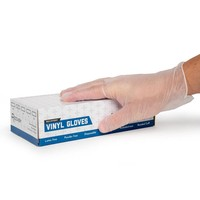Clear Disposable Vinyl Gloves by Recovery - Box of 100