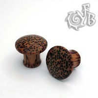 Coconut Wood - Classic Domed Cap Plugs