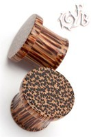 Coconut Wood - Classic Flat Cap Plugs