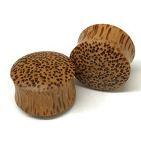 Coconut Wood Dome Style Plugs