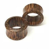 Coconut Wood Double Flared Tunnels