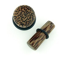 Coconut Wood Long Tapered Plugs