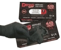Defend Blackjack Latex Gloves