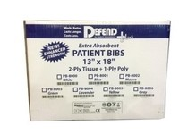 Defend Brand Dental Bibs/Lap Cloths - Case of 500