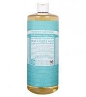 Dr. Bronner's Pure-Castile Soap - Unscented Baby-Mild – 32oz Bottle