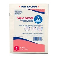"Dynarex ""View Guard"" Transparent Dressing Roll - 10 Pack of 6"" x 8"" Sheets"
