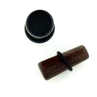 Ebony Wood Long Tapered Plugs