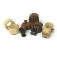 Exotic Wood Plugs and Tunnels Package - 60 Pieces