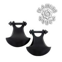 Forma 7 Stirrups in Black Water Buffalo Horn