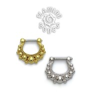 Gold Plated Septum Klikr with Surgical Steel Post - Saphira