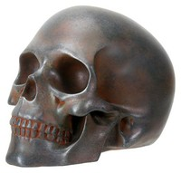 Hand-Painted Rusted Skull