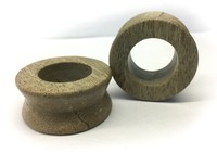"Hourglass Eyelets in ""Smoke"" Grey Fossilized Wood"