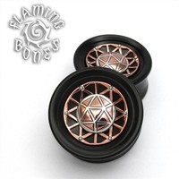 Icosahedron Collector Edition Plugs - Mixed Metal and Blackwood