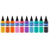 10 Pastel Color Set - Intenze Tattoo Ink