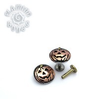 Internally Threaded Pumpkin Head - Mixed Metal Threaded End
