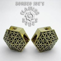 Kikko Ear Weights in Brass