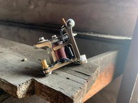 Landon Lewis Tattoo Machine - Shader - Nickel Plated