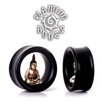 Meditation Cave Eyelets - Antiqued Bone Buddha in Horn