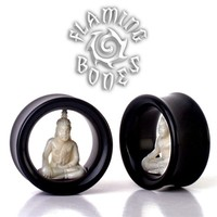Meditation Cave Eyelets - Bone Buddha in Horn
