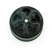 Negative Space Eyelets Black Dogwood with Silver - Style 10
