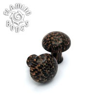 0g Palm Wood - Classic Domed Cap Plugs