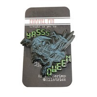 Razorblade Artist Series Pins - Ella Trick - Full Color Enamel Alien Queen