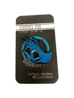 Razorblade Artist Series Pins - Ella Trick - Full Color Enamel Blue Hand