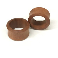 Sawo Wood Double Flared Tunnels