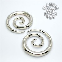 Silver Plated Spiral Ear Weights