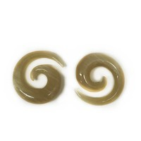 Small Long Spirals in Golden Water Buffalo Horn