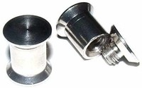 Solid Steel Double Flared Screw-On Plug