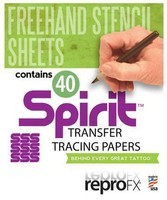 "Spirit Freehand Stencil Sheets - 40 Sheets - 8.5"" x 11"""