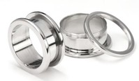 Steel Screwback Ear Tunnel