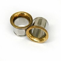 316LVM Steel with Gold Plated Silver Classic Accent Eyelets