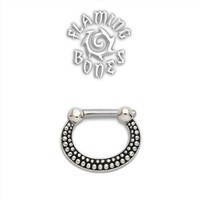 Sterling Silver Septum Klikr with Surgical Steel Post - De Luz