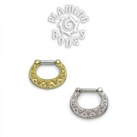 Gold Plated Sterling Silver Septum Klikr with Surgical Steel Post - Luna