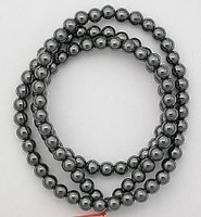 Strand of 100 Hematite Bead for Captive Rings