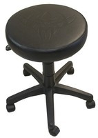 "Tattoo and Piercing Shop Stool - 16"" Wide and Adjustable Height"