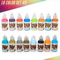 World Famous Tattoo Ink - 16 Bottle Color Ink Set #2