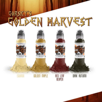 World Famous Tattoo Ink - Damian Gorski Golden Harvest Set - 4 Bottles