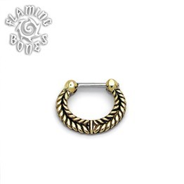 Brass Septum Klikr with Surgical Steel Post - Catena