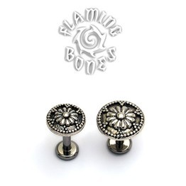 14g Cactus Blossom Threaded Ends in Sterling Silver