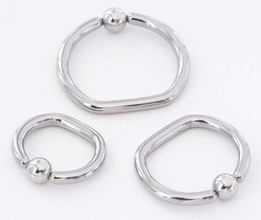 14g D-Shaped Captive Bead Ring