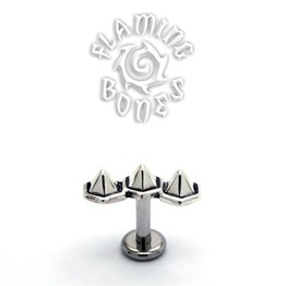 14g Hexamid Cluster Threaded Ends in Sterling Silver