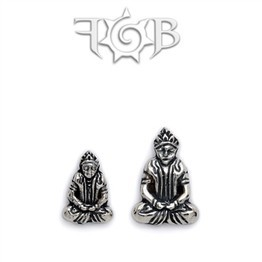 14g Sterling Silver Buddha Threaded End