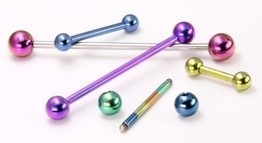"14g Titanium Industrial Straight Barbell 1"" to 2"""