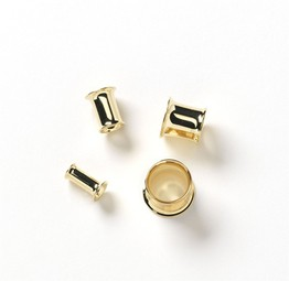 "7/16"" 14k Yellow Gold Double Flare Tunnel / Eyelet"