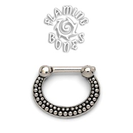 16g Steel Septum Klikr with Surgical Steel Post - De Luz