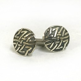 316LVM Steel Plug with Sterling Silver Stud - Celtic