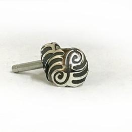 316LVM Steel Plug with Sterling Silver Stud - Contemporary Tribal 2